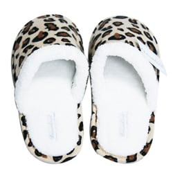 Leisureland Women's Cotton Leopard-print Slippers