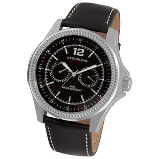 Stuhrling Original Men's Targa Classic Swiss Quartz Black Sports Watch