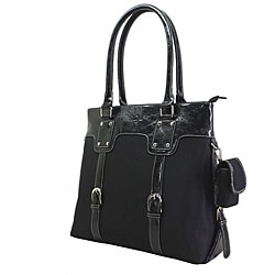 Nunzia Women's Black Monique 13-inch Laptop Tote