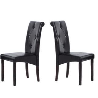 Warehouse of Tiffany Brown Rubberwood Dining Room Chairs (Set of 2)