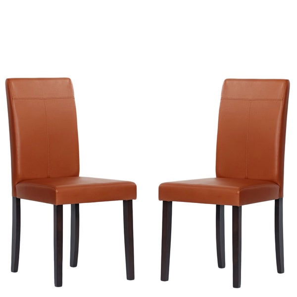 tiffany toffee upholstered rubber wood dining room chairs set of 8