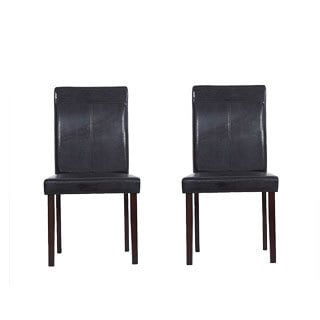 Warehouse of Tiffany Brown Wood Dining Room Chairs (Set of Eight)