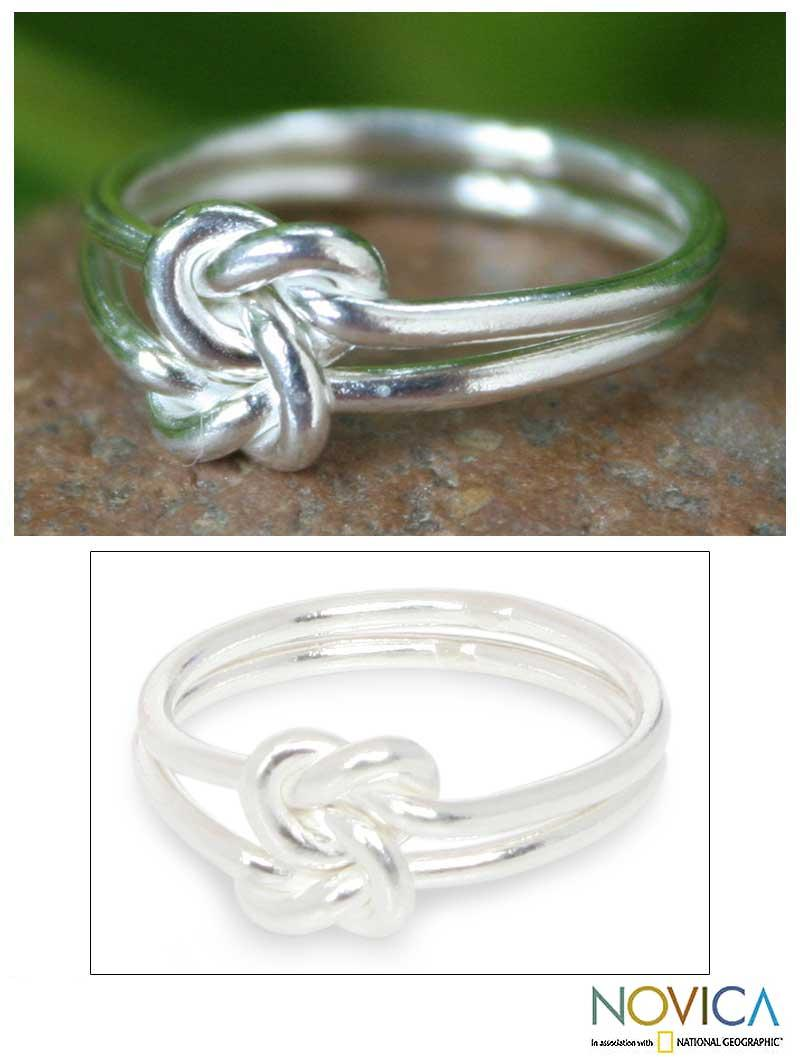 Sterling Silver 'Love Knot' Cocktail Ring (Thailand)