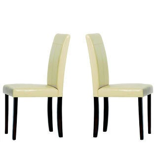 Warehouse of Tiffany Cream Rubberwood Dining Room Chairs (Set of Four)