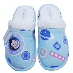 Leisureland Women's Cotton Space Monkey Slippers