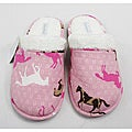 Leisureland Women's Cotton Pink Horse Slippers