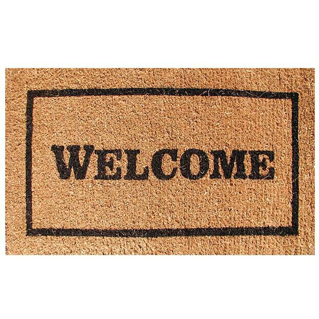 Welcome Door Mat (30x18) - 13308518 - Overstock.com ...