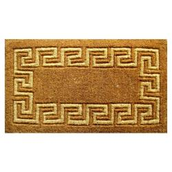 Greek Key Coir Door Mat (24 x 39)
