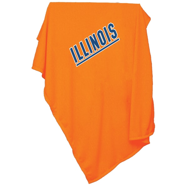 Illinois 'Fighting Illini' Sweatshirt Blanket