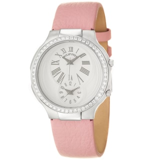Philip Stein Women's 'Modern' Steel and Leather Quartz Diamond Watch