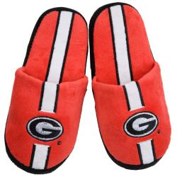 Georgia Bulldogs Striped Slide Slippers