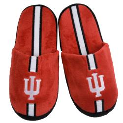 NCAA Indiana Hoosiers Striped Slide Slippers
