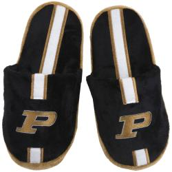 NCAA Purdue Boilermakers Striped Slide Slippers