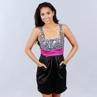 Wishes Juniors Animal Print Dress