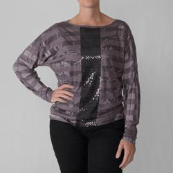 California Bloom Missy Sequin Detail Long-sleeve Top