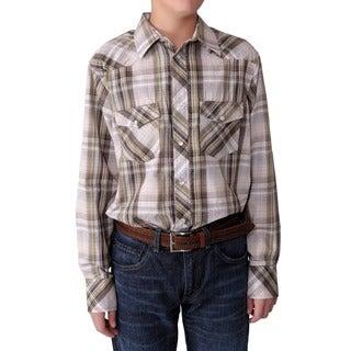Gioberti by Boston Traveler Boy's Plaid Shirt
