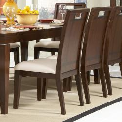 Silves Warm Cherry Transitional Dining Side Chair (Set of 2)