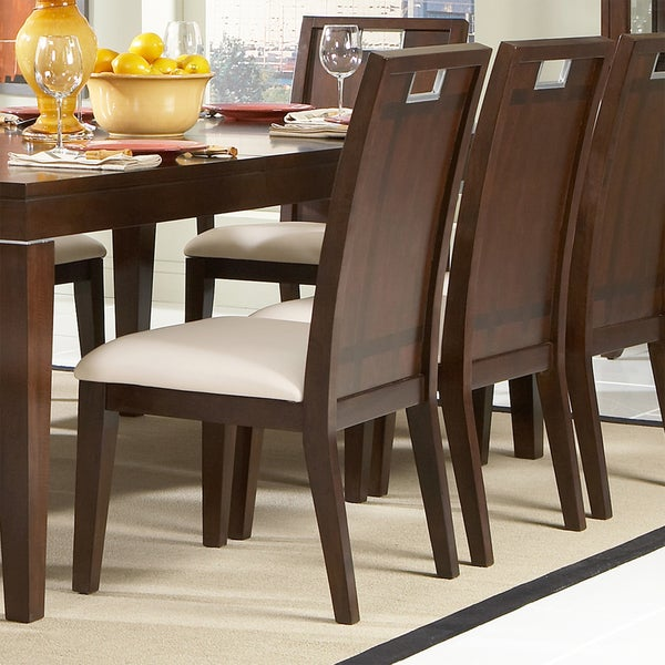 TRIBECCA HOME Silves Warm Cherry Transitional Dining Side Chair (Set of 2)