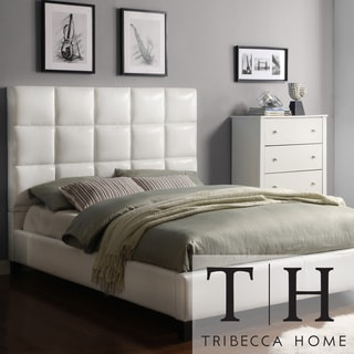 TRIBECCA HOME Sarajevo Soft White Tufted Upholstered King-size Bed