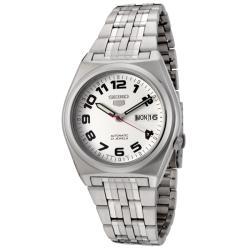 Seiko Men's Seiko 5 White Dial Stainless Steel Automatic Watch
