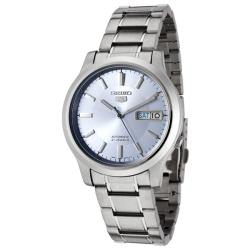 Seiko Men's 'Seiko 5' Light Blue Dial Stainless Steel Automatic Watch