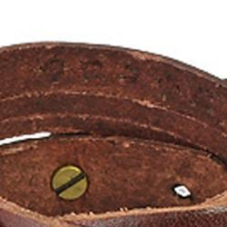 Brown Multi-strip Braided/ Studded Strap Bracelet