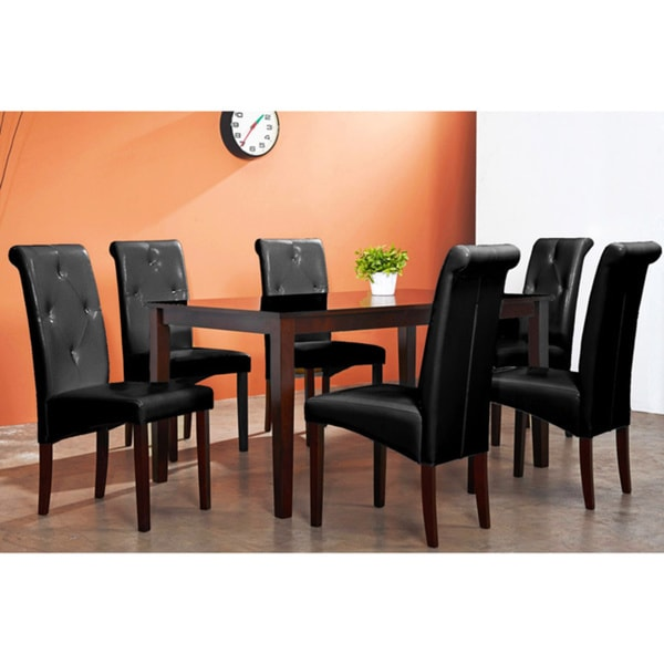 Warehouse Of Tiffany 7 Piece Brown Dining Furniture Set Warehouse Of Tiffany  Dining Sets