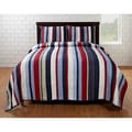 Cameron Red/ Blue Striped 4-piece Quilt Set