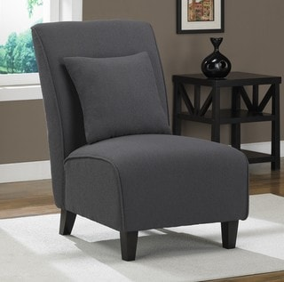Steel Grey Tapered Armless Chair