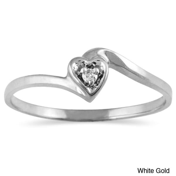 Marquee Jewels 10k Gold Diamond Accent Heart Promise Ring