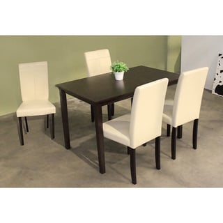 Warehouse of Tiffany 5-Piece Cream-Upholstered Dining Furniture Set