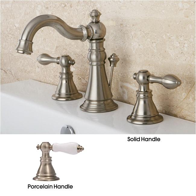 American Patriot Satin Nickel Widespread Bathroom Faucet