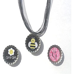 BEE-u-ti-ful Bottle Cap Necklace Set