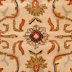 Indo Hand-tufted Beige/ Rust Wool Rug (2' x 3')