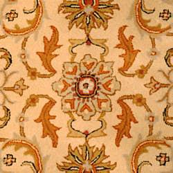 Indo Hand-tufted Beige/ Rust Wool Rug (5' x 8')