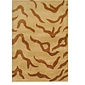 Indo Hand-tufted Beige/ Brown Wool Rug (2' x 3')