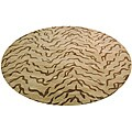 Indo Hand-tufted Beige/ Brown Wool Rug (8' x 8')