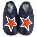 Baby Pie Blue and Orange Star Leather Boy's Shoes