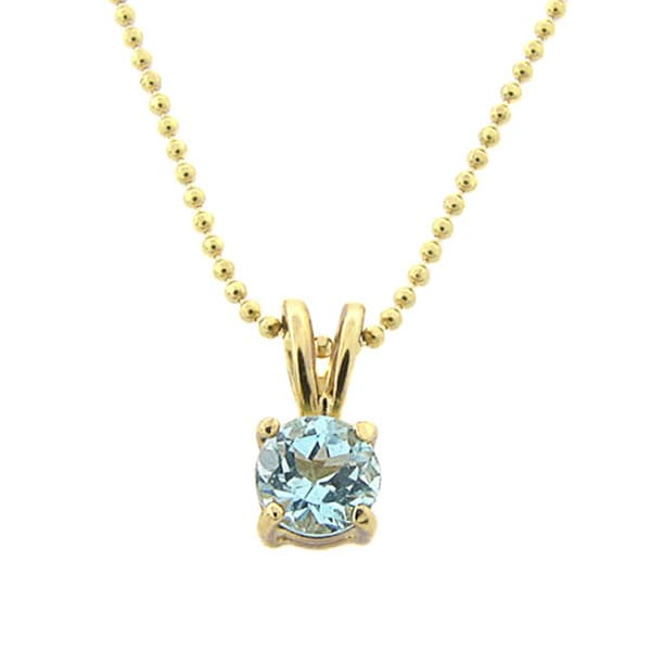 Dolce Giavonna 18k Gold over Sterling Silver Blue Topaz Necklace