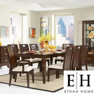ETHAN HOME Silves Warm Cherry Transitional 9-piece Dining Set