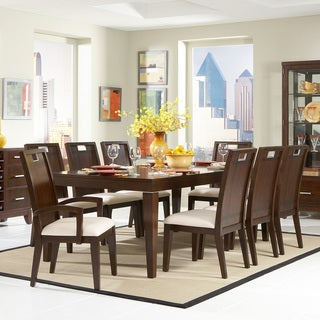 TRIBECCA HOME Silves Warm Cherry Transitional 9-piece Dining Set