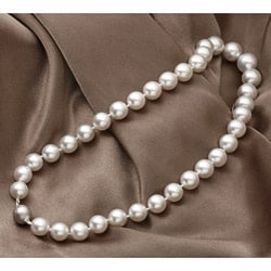 Miadora 14k Gold South Sea Pearl and Diamond Necklace (11-14 mm)