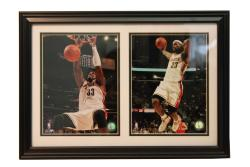 Cleveland Cavaliers Shaquille O'Neal/ LeBron James Photograph Frame