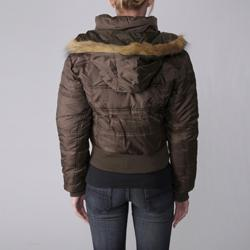 Journee Collection Everyday  Juniors Plush Trim Quilted Jacket