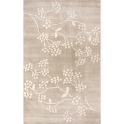 nuLOOM Handmade Pino Beige Spring Season Floral Rug (3'6 x 5'6)