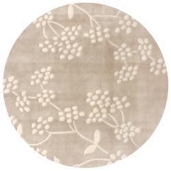 nuLOOM Handmade Pino Beige Spring Season Floral Rug (6' Round)