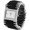 Geneva Women's 'Platinum' Japanese Quartz Safety Pin Stretch Watch