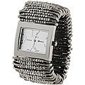 Geneva Women's 'Platinum' Safety Pin Stretch Watch