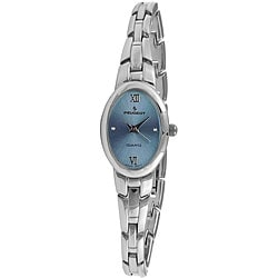 Peugeot Women's Blue-Dial Silvertone Bracelet Watch