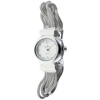 Peugeot Women's Silvertone Jewelry Strand Watch